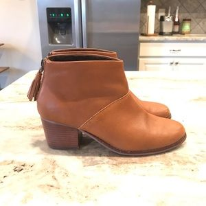 TOMS brown leather booties